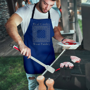 Blue and Gray Bandana Aprons