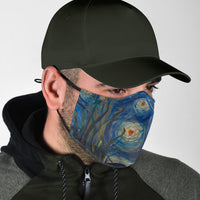 Starry Night Adjustable Face Mask