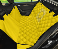 yellow back seat cover for pets