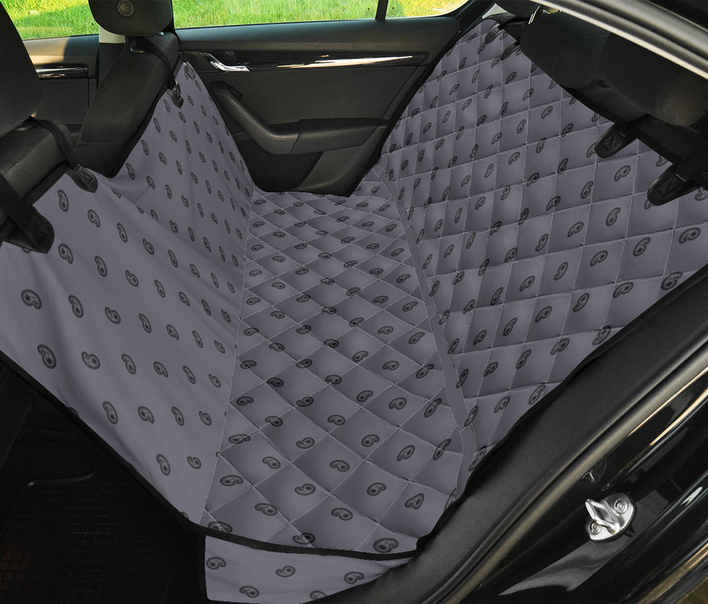gray paisley back seat cover