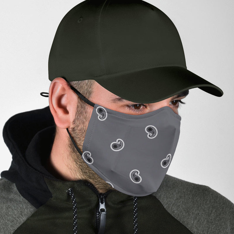 paisley mens face mask
