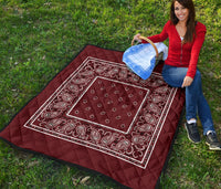 Burgundy Bandana Quilts
