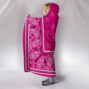 Ultimate Rich Pink Bandana Hooded Blanket