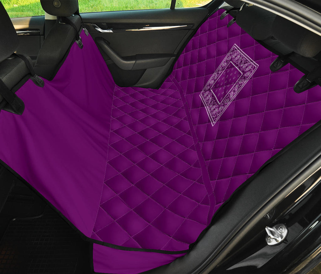 plum purple back seat cover for pets