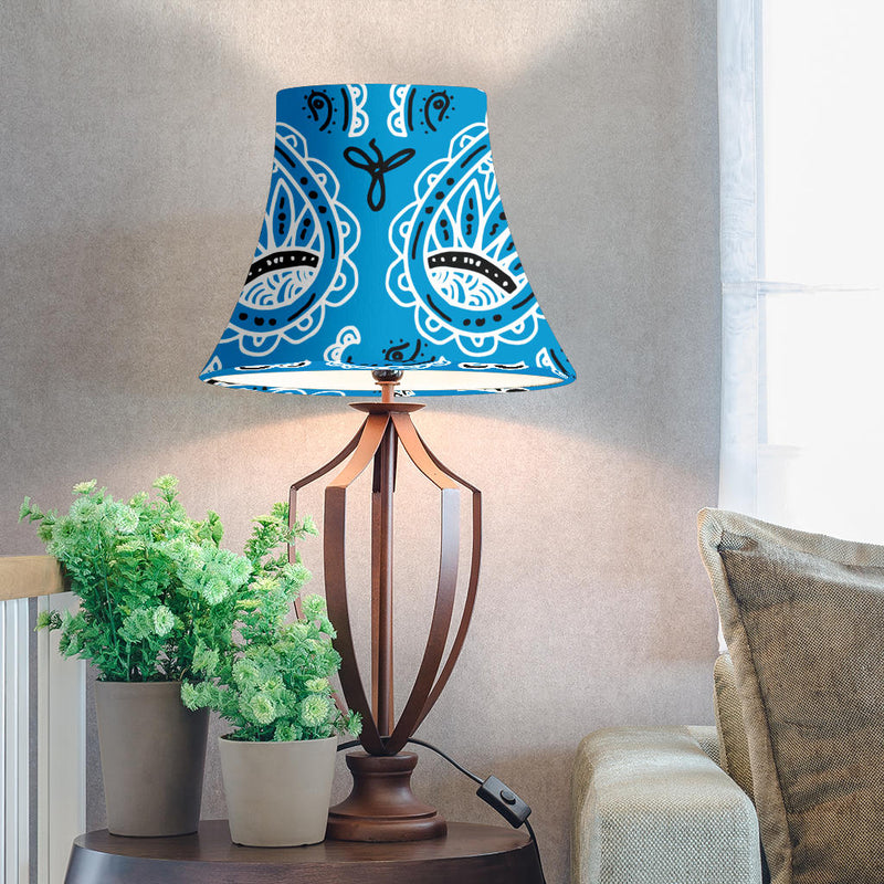 Blue Paisley Bell Lampshades