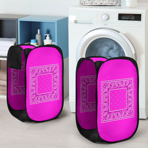 Abruptly Pink Bandana Laundry Basket