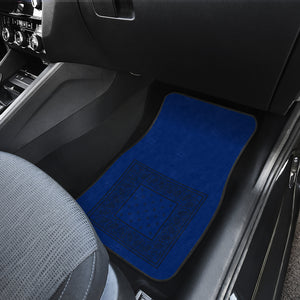 Dual Blue and Black Bandana Car Mats - Minimal