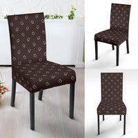 Coffee Brown Bandana Dining Chair Covers - 4 Patterns