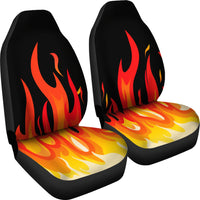 flame muscle car seat covers
