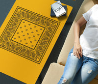 Gold and Black Bandana Coffee Tables
