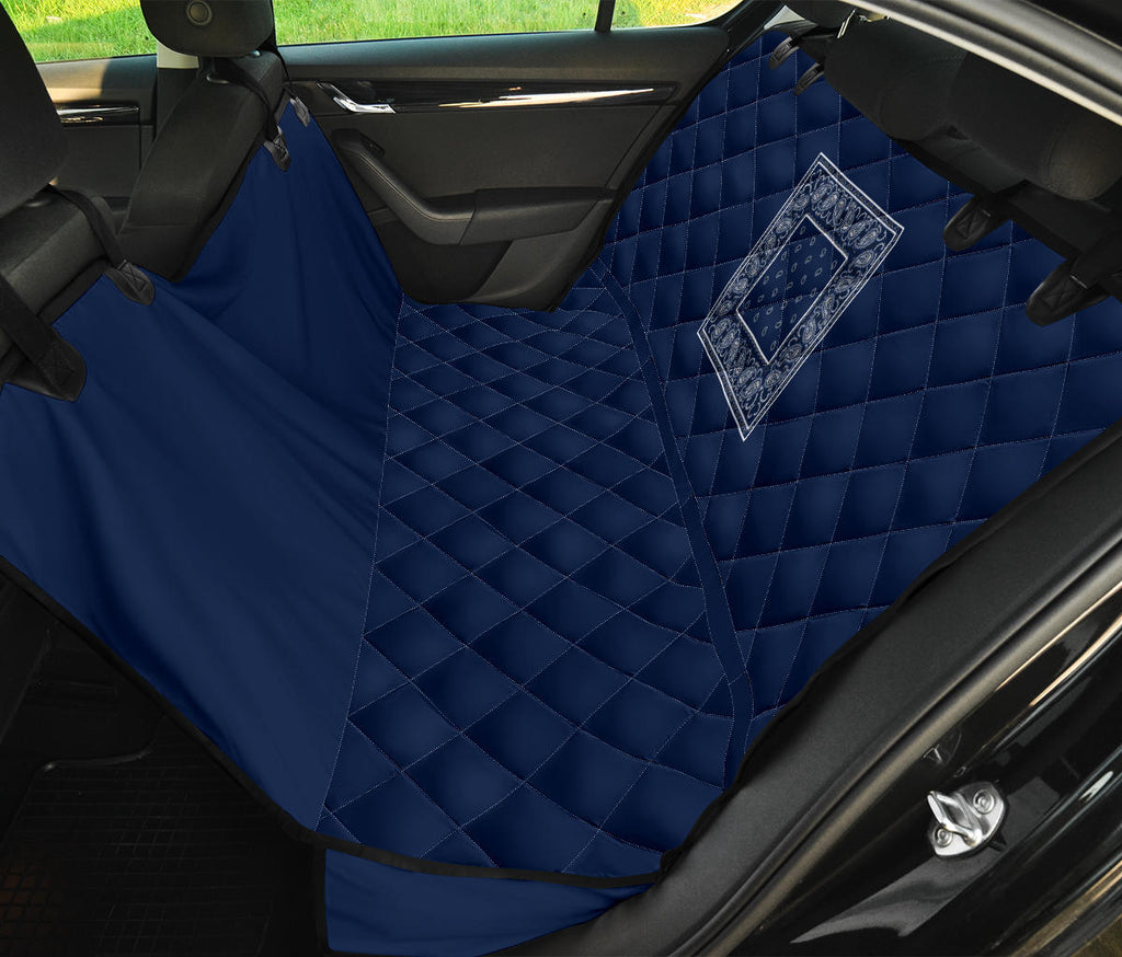 Navy Back Seat Cover for Dogs