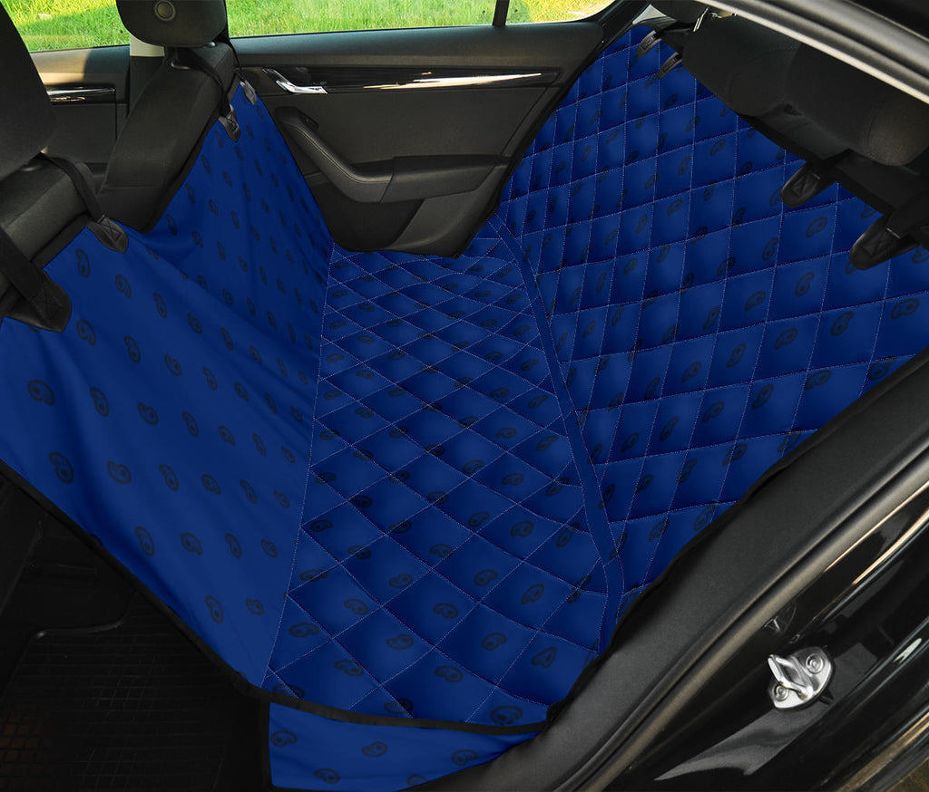 blue paisley dog car seat cover
