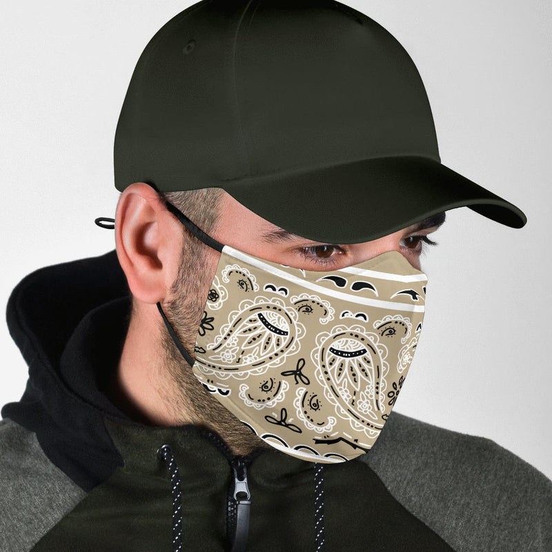 Edge Khaki Bandana Face Mask