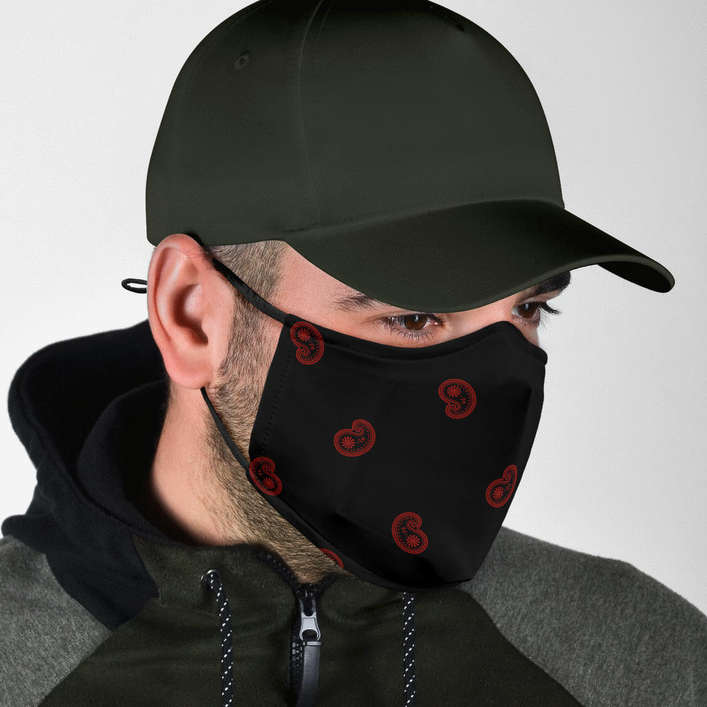 mens black covid masks