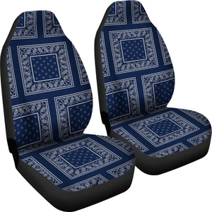 navy blue with white car seat covers