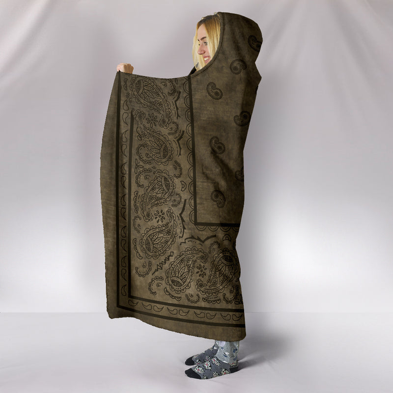 Ultimate Brown Faded Bandana Hooded Blanket