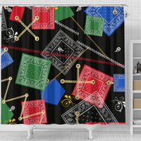 Abstract Bandanas Shower Curtain