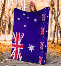 Australia Flag Fleece Throw Blankets