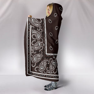 Brown Bandana Hooded Blanket