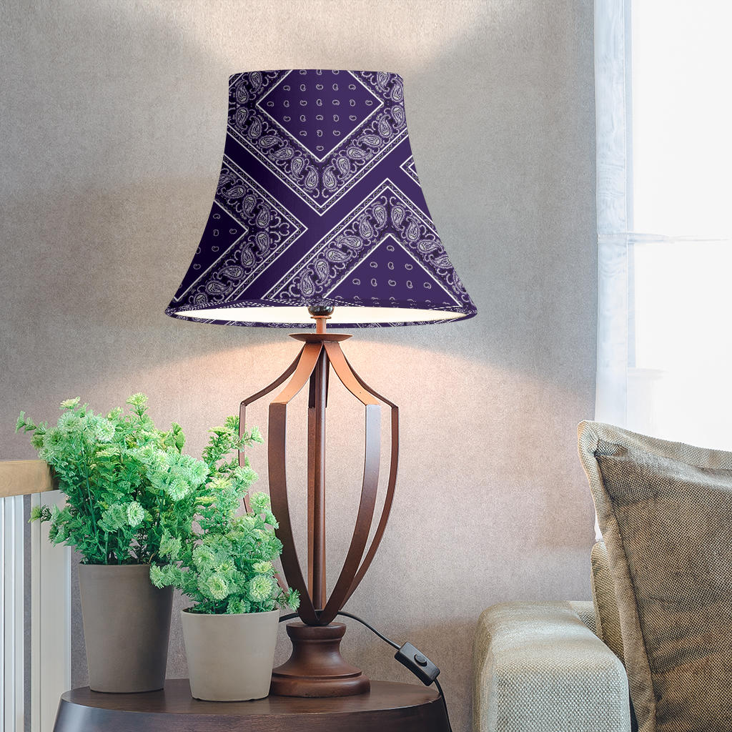 Purple Bandana Bell Lampshade