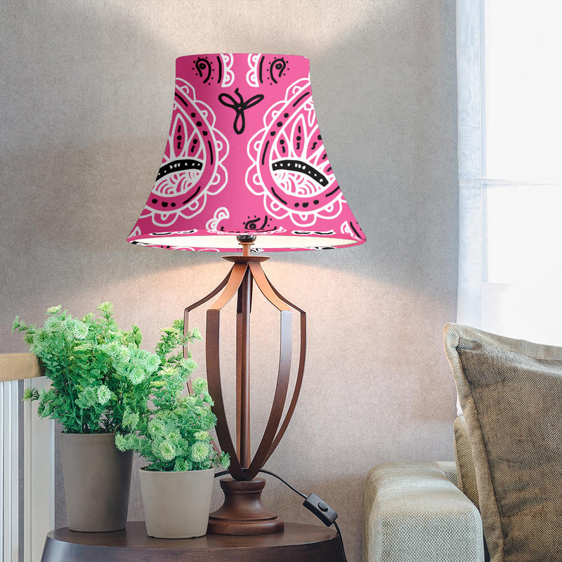 Pink Paisley Bell Lampshade