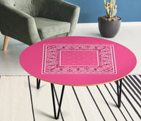 Pink Bandana Round Coffee Table