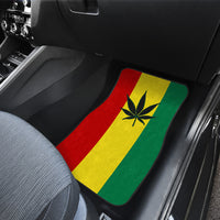 Rasta pot leaf Car Floor Mats