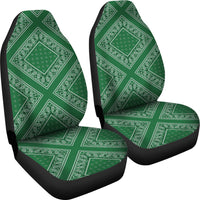 Classic green car seat cover