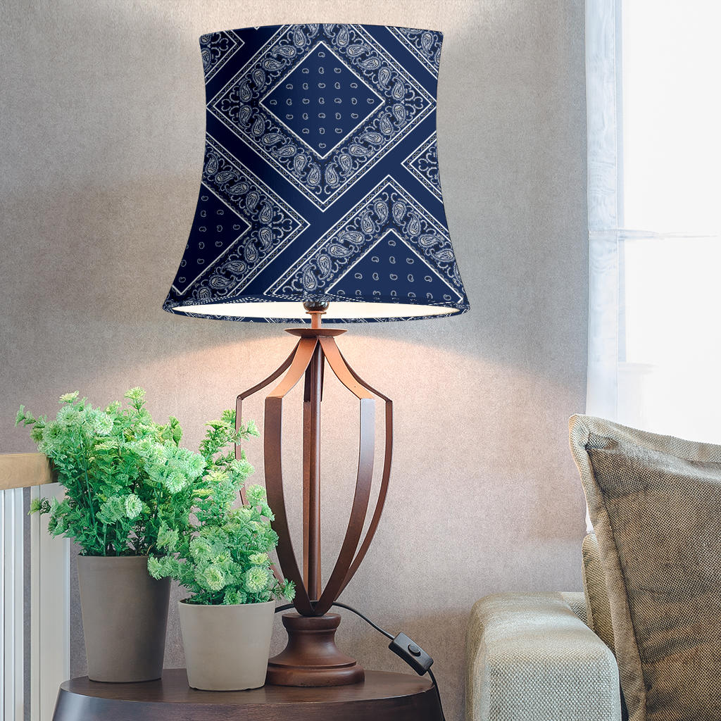 Navy Blue Bandana Drum Lampshade