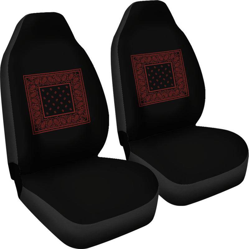 Black and Red Bandana Car Seat Covers - Minimal
