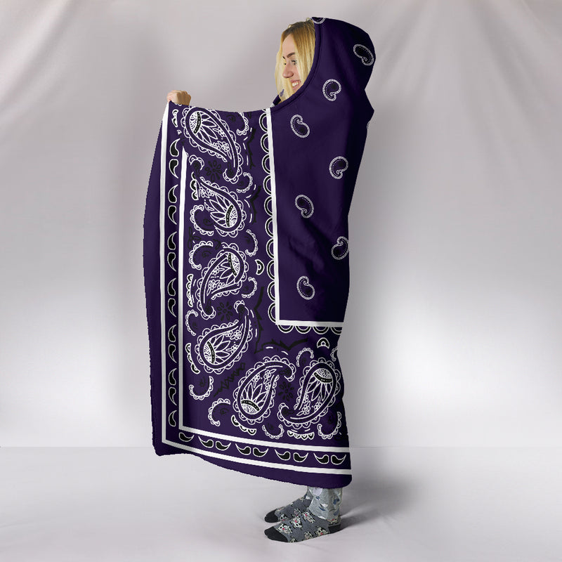 Purple Bandana Hooded Blankets