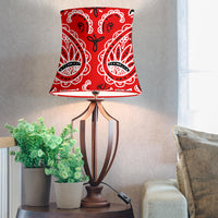 Red Paisley Drum Lampshade