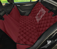burgundy red pet car seat covers