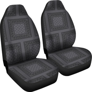 gray and black bucket seat cover