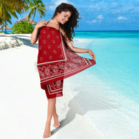 Red Bandana Beach Coverup Sarongs