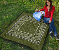 Army Green Bandana Quilts