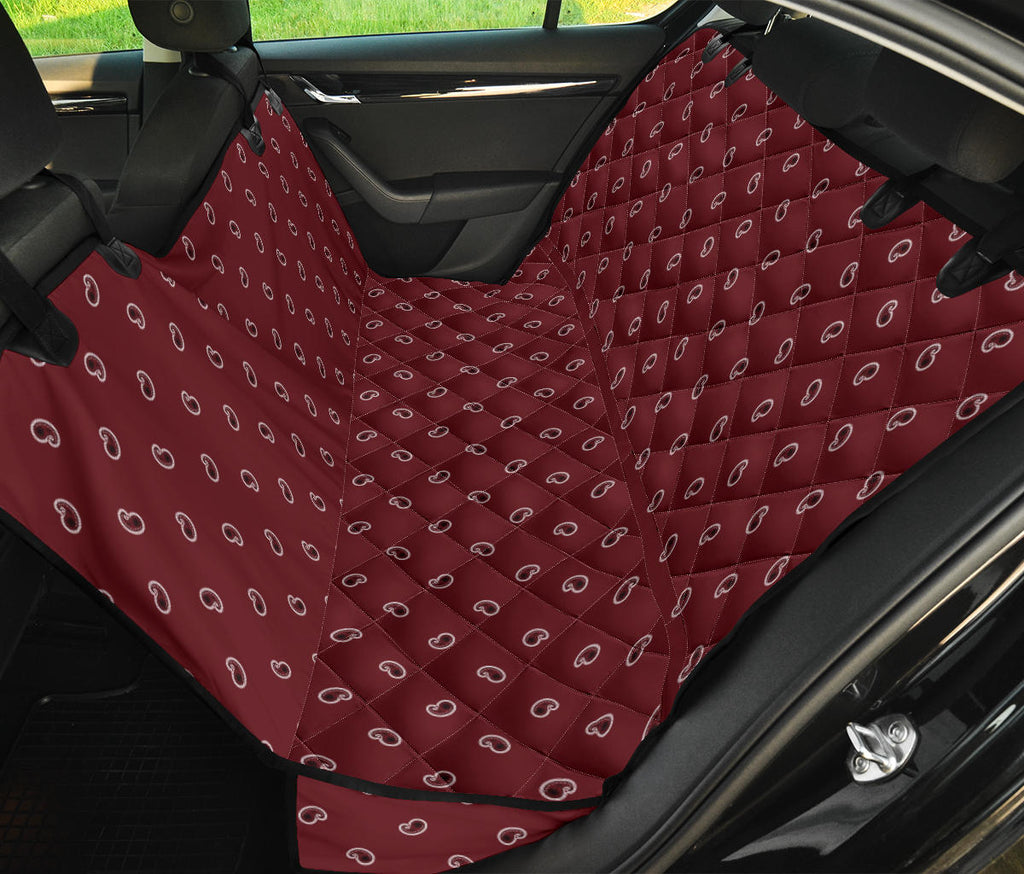 burgundy dog auto seat covers