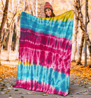 Hippie Tie Dye Fleece Throws