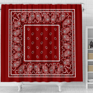 Maroon Red Bandana Bathroom Decor