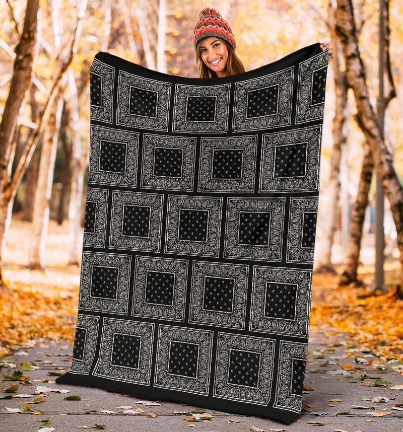 Black Bandana Blanket