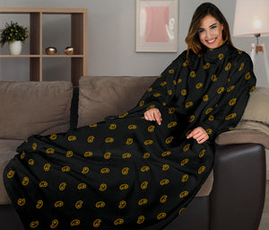 black and yellow paisley blanket