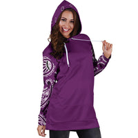 Plum Purple Bandana Hoodie Dress