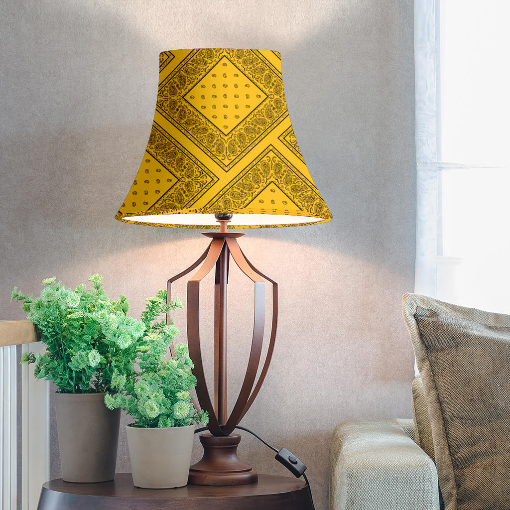 Gold and Black Bandana Bell Lampshades