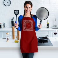 Maroon Red Bandana Cooking Apron