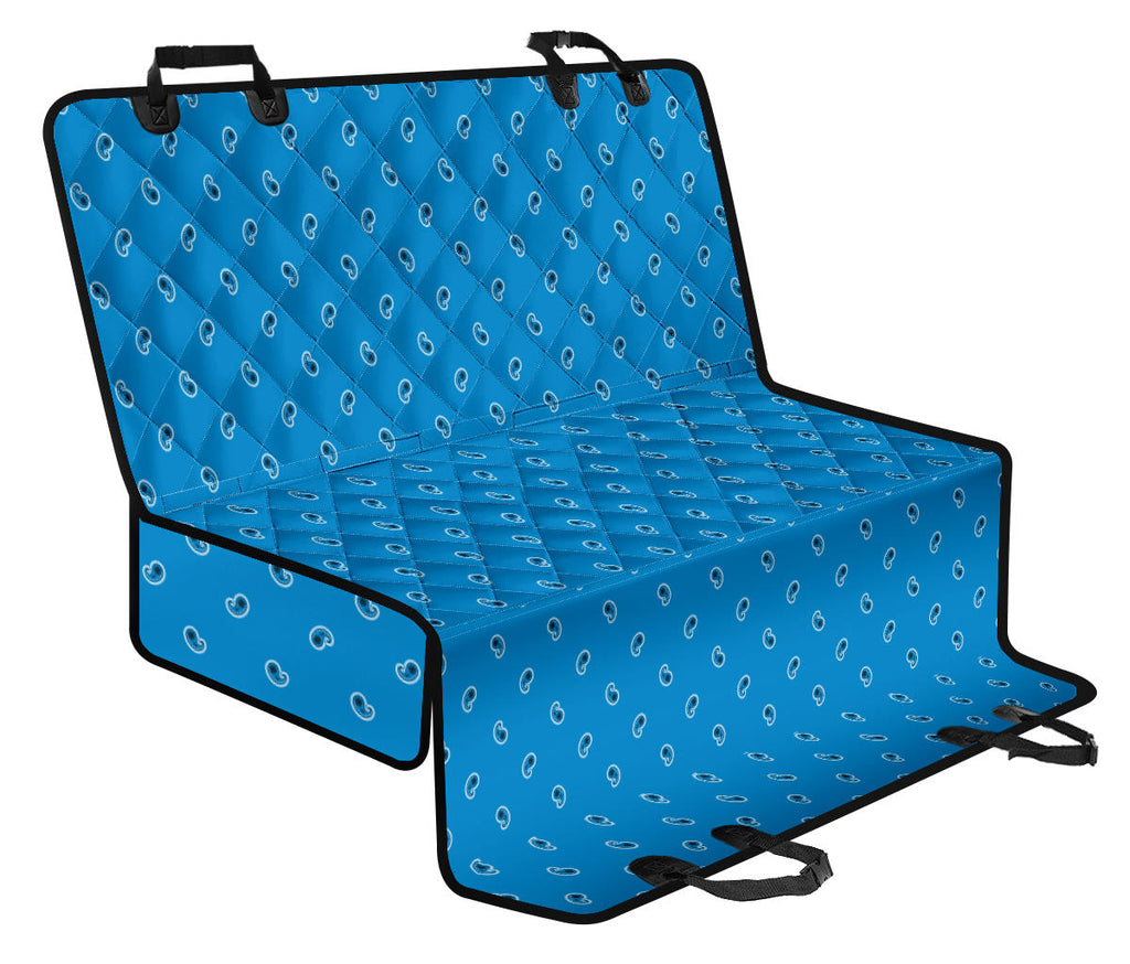 Sky Blue Paisley Car Pet Seat Covers