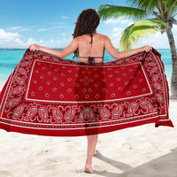 Red Bandana Beach Coverup Sarong