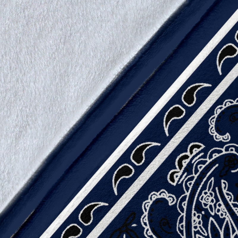 Royal Blue Bandana Throw Blanket Details