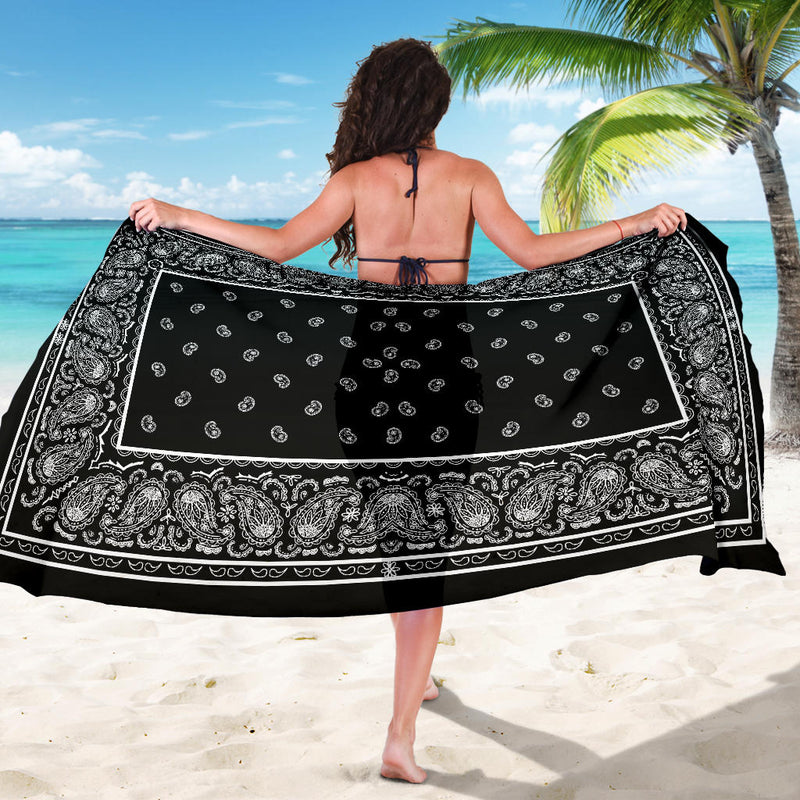 Black Bandana Sarongs