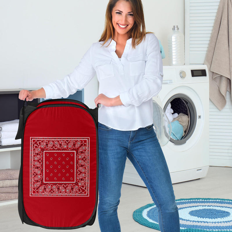 Classic Red Bandana Laundry Basket