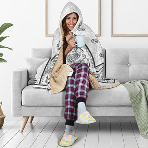 Gray Bandana Hooded Blankets